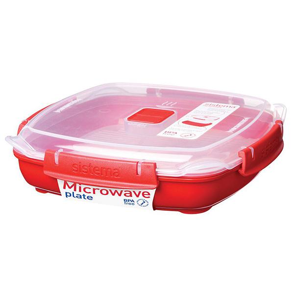 Cutie alimente pentru microunde SISTEMA 4031065, 0.88l, plastic, rosu