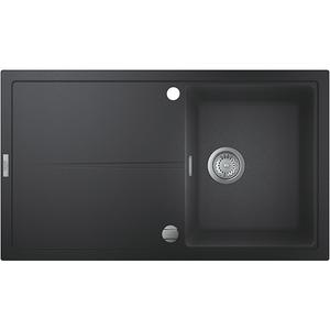 Chiuveta bucatarie GROHE K400 31640AP0, 1 cuva, picurator reversibil, compozit quartz, negru