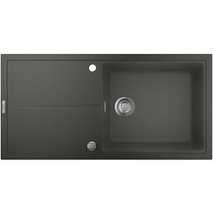 Chiuveta bucatarie GROHE K400 31641AT0, 1 cuva, picurator reversibil, compozit quartz, antracit