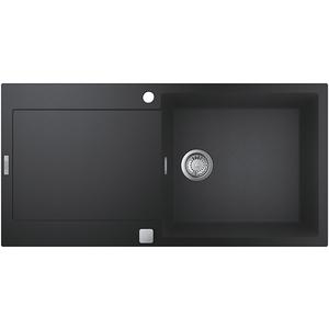 Chiuveta bucatarie GROHE K500 31645AP0, 1 cuva, picurator reversibil, compozit quartz, negru