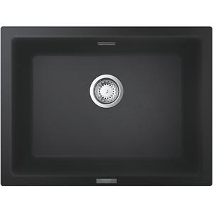 Chiuveta bucatarie GROHE K700U 31655AP0, 1 cuva, compozit quartz, negru