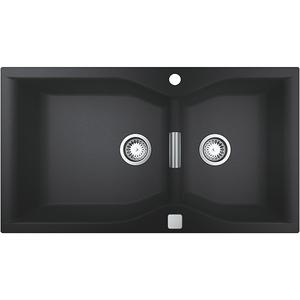 Chiuveta bucatarie GROHE K700 31658AP0, 2 cuve, compozit quartz, negru