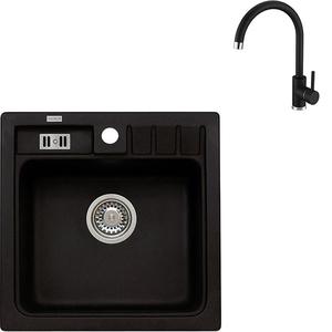 Pachet chiuveta ALVEUS Niagara 20, compozit + baterie Kati, negru