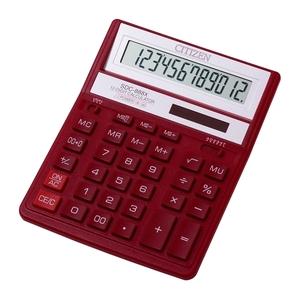 Calculator de birou CITIZEN SDC-888X, 12 cifre, rosu