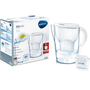 Cana filtranta BRITA Marella XL BR1026453 + 3 filtre Maxtra+, 3.5l, alb-transparent