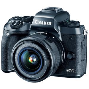 Camera foto mirrorless CANON EOS M5+ Obiectiv EF-M 15-45, 24mp, 3.2 inch, Wi-fi, NFC