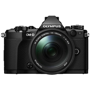 Aparat foto Mirrorless OLYMPUS E-M5 MARK II, 16 MP, Wi-Fi, negru + Obiectiv 14-150mm
