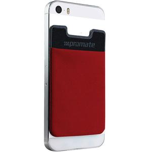 Suport card credit tip sticker pentru telefon PROMATE Cardo, Rosu