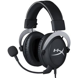 Casti Gaming HyperX Cloud Silver, sunet stereo, multiplatforma, 3.5mm, negru-argintiu