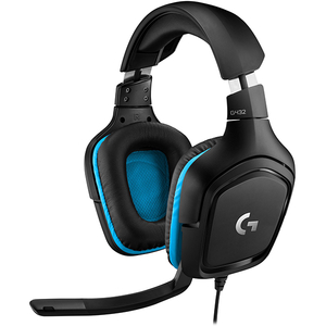 Casti Gaming LOGITECH G432, 7.1 surround, multiplatforma, 3.5mm, negru-albastru