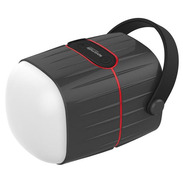 Lanterna LED reincarcabila de camping PROMATE CampMate-1, 1 LED, PowerBank 8800 mAh, Boxa Wireless 3W, negru