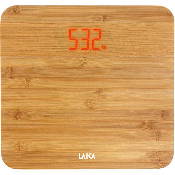 Cantar de persoane LAICA PS1067D, electronic cu platforma din lemn de bambus, 150kg