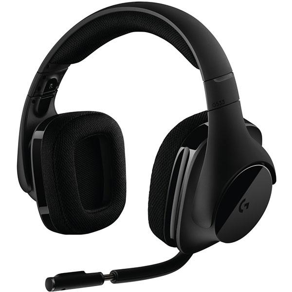 Casti Gaming Wireless LOGITECH G533, 7.1 surround, dongle 2.4Ghz, negru