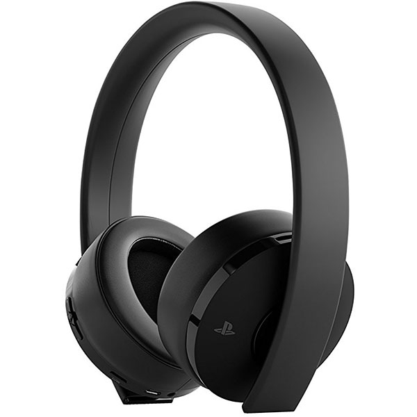 Casti gaming wireless SONY PlayStation (PS4) Surround 7.1, Gold, Black Edition