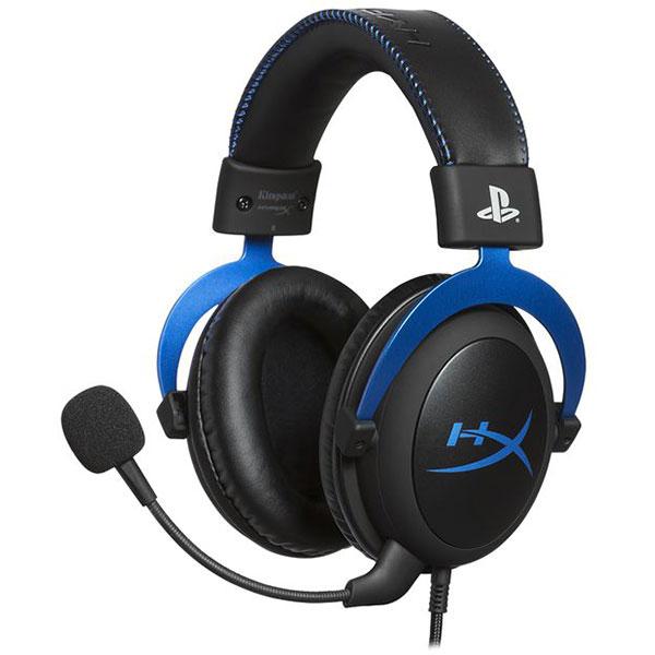 Casti gaming HyperX Cloud pentru PlayStation 4, negru-albastru