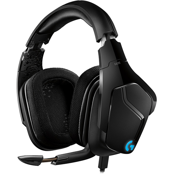 Casti Gaming LOGITECH G635, 7.1 surround, multiplatforma, 3.5mm, negru