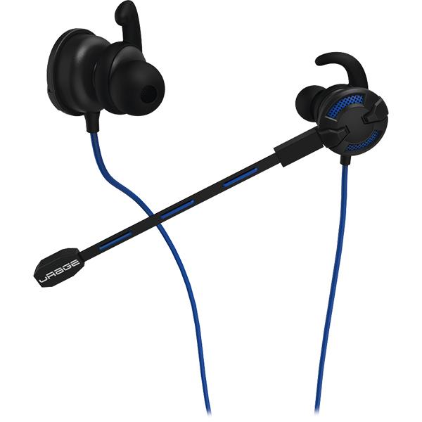 Casti Gaming in-ear HAMA uRage ChatZ, stereo, 3.5mm, negru-albastru