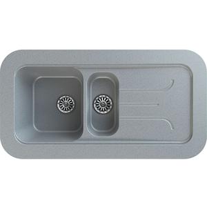 Chiuveta bucatarie GORENJE KVE 100.12, 1 1/2 cuve, picurator reversibil, compozit, gri
