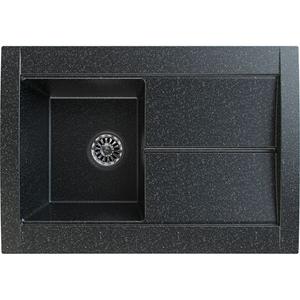 Chiuveta bucatarie GORENJE KVE 76.10, 1 cuva, picurator reversibil, compozit, negru