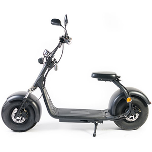 Moped electric FREEWHEEL City Rider, 8 inch, negru, Omologat R.A.R.