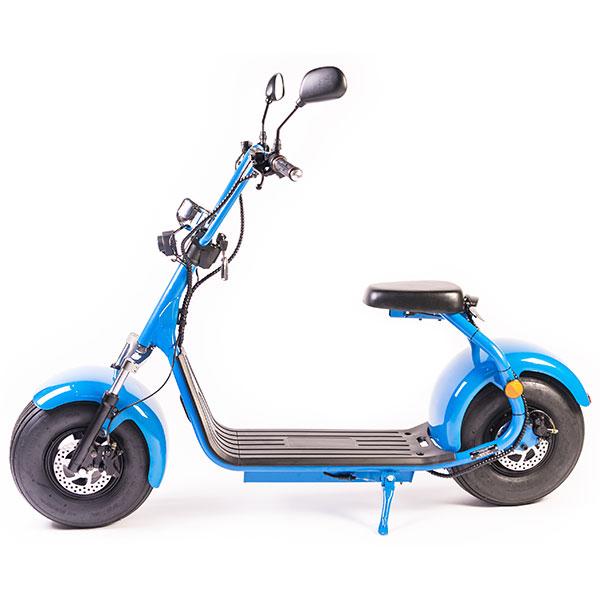 Moped electric FREEWHEEL City Rider, 8 inch, albastru, Omologat R.A.R.