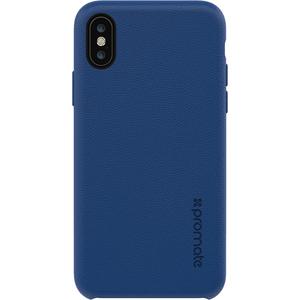 Carcasa pentru iPhone X, PROMATE Coat-X, piele, albastru