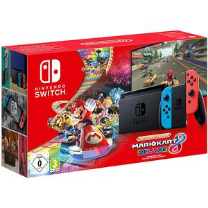 Consola NINTENDO Switch (Joy-Con Neon Red/Blue) Mario Kart 8 Deluxe (cod download)