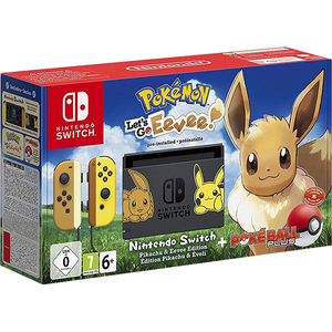 Consola Nintendo Switch Let's Go Eevee Limited Edition + joc Pokemon: Let's Go Eevee + controller Poke Ball Plus