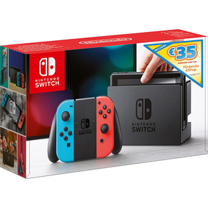 Consola NINTENDO Switch Summer Digital Bundle + voucher 35 euro Nintendo eShop (Joy-Con Neon Red/Blue)