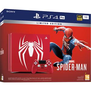 Consola SONY PlayStation 4 Pro (PS4 Pro) 1TB, Amazing Red Spider-Man Limited Edition + joc Marvel's Spider-Man (disc) + bonus digital The City That Never Sleeps DLC