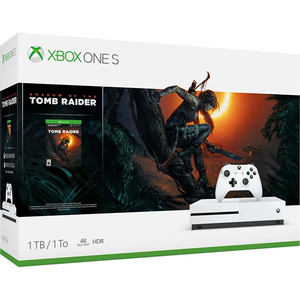 Consola MICROSOFT Xbox One S 1TB, alb + joc Shadow of the Tomb Raider