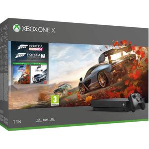 Consola MICROSOFT Xbox One X 1TB, negru + joc Forza Horizon 4, + joc Forza Motorsport 7 (coduri download)