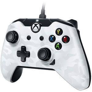Controller cu fir PDP pentru Xbox One/ Xbox One S/ Xbox One X/Windows, White Camo