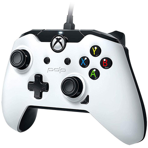 Controller cu fir PDP pentru Xbox One/ Xbox One S/ Xbox One X/Windows, White