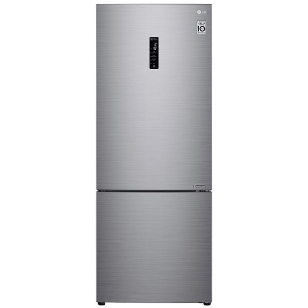 Combina frigorifica LG GBB566PZHZN, No Frost, 445 l, H 185 cm, Clasa A++, Door Cooling, argintiu