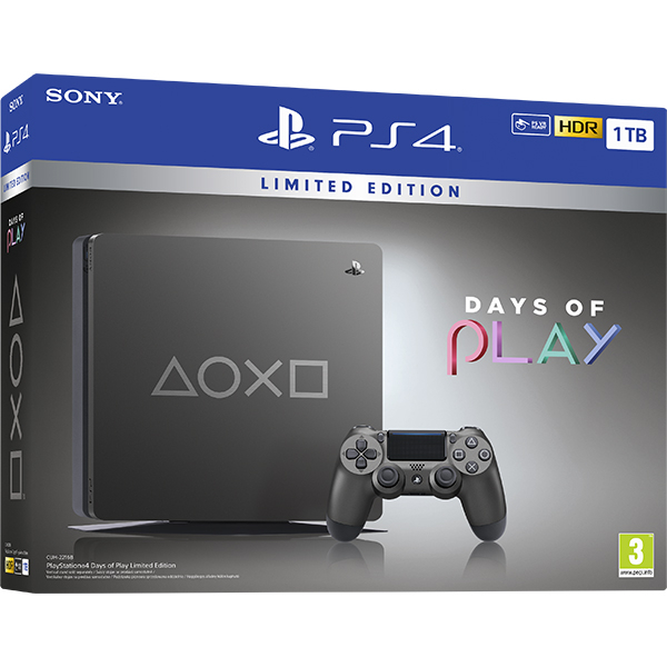 Consola SONY PlayStation 4 Slim (PS4 Slim) 1TB Days of Play Limited Edition