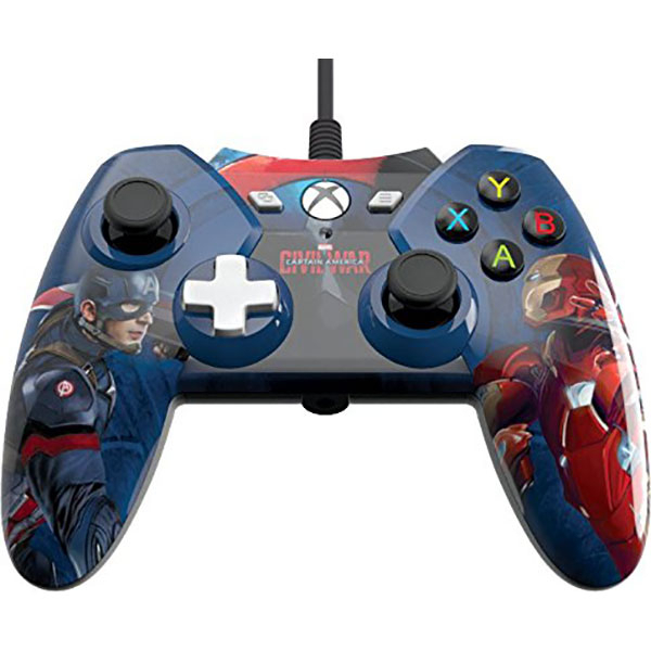Controller cu fir PowerA Xbox One / PC Captain America Civil War Edition
