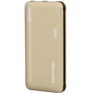 Baterie externa PROMATE Crown-10QC, 10000mAh, 1xType C, 1xLightning, 2xUSB, auriu