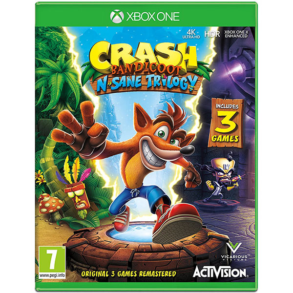 Crash Bandicoot N. Sane Trilogy Remastered Xbox One (include 3 jocuri)
