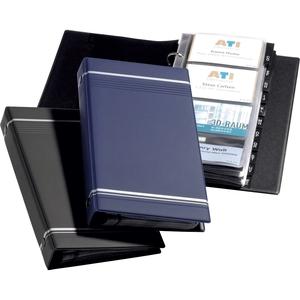 Clasor carti de vizita DURABLE Visifix 2385, 25 file, albastru