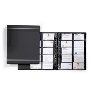 Clasor carti de vizita DURABLE Visifix 2389, A4, 20 file, antracit