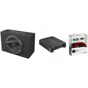 Pachet Subwoofer auto HERTZ DBX 25.3 + Amplificator HCP2 + kit cabluri FPK 350