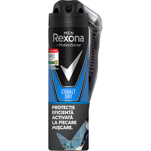 Pachet promo: Deodorant spray antiperspirant REXONA Men Cobalt Dry, 150ml + Aparat de ras Wilkinson Xtreme3 Sensitive