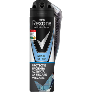 Pachet promo: Deodorant spray antiperspirant REXONA Men Invisible Ice, 150ml + Aparat de ras Wilkinson Xtreme3 Sensitive