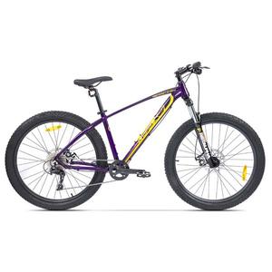 Bicicleta Mountain Bike PEGAS Drumuri Grele 17, Mov-Galben