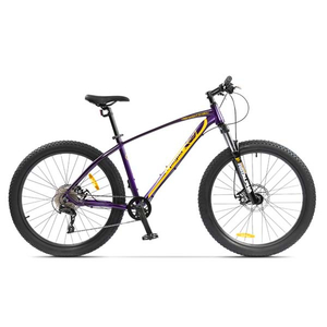 Bicicleta Mountain Bike PEGAS Drumuri Grele 18.5, Mov-Galben