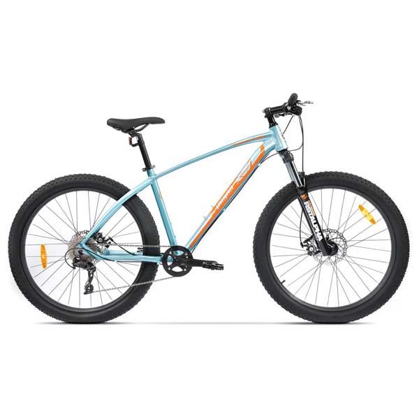 Bicicleta Mountain Bike PEGAS Drumuri Grele 18.5, Bleu-Portocaliu