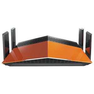 Router Wireless Gigabit D-LINK DIR-879, Dual Band 600 + 1300 Mbps, WAN, LAN, negru-portocaliu