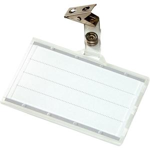 Ecuson orizontal DONAU, plastic, 85 x 50 mm, 50 bucati, transparent