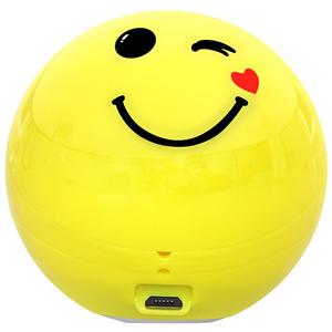 Boxa portabila PROMATE Flirty Emoji, Bluetooth, MicroSD, Galben